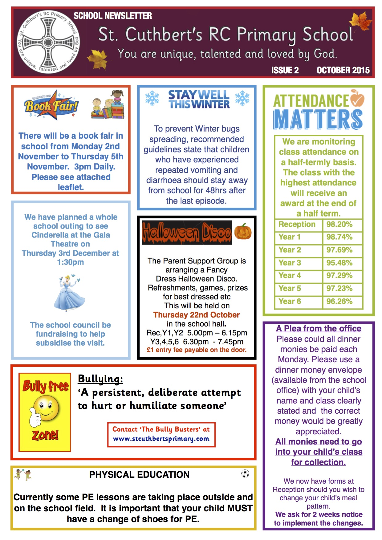 october newsletter 2015  u2013 st  cuthbert u0026 39 s primary school