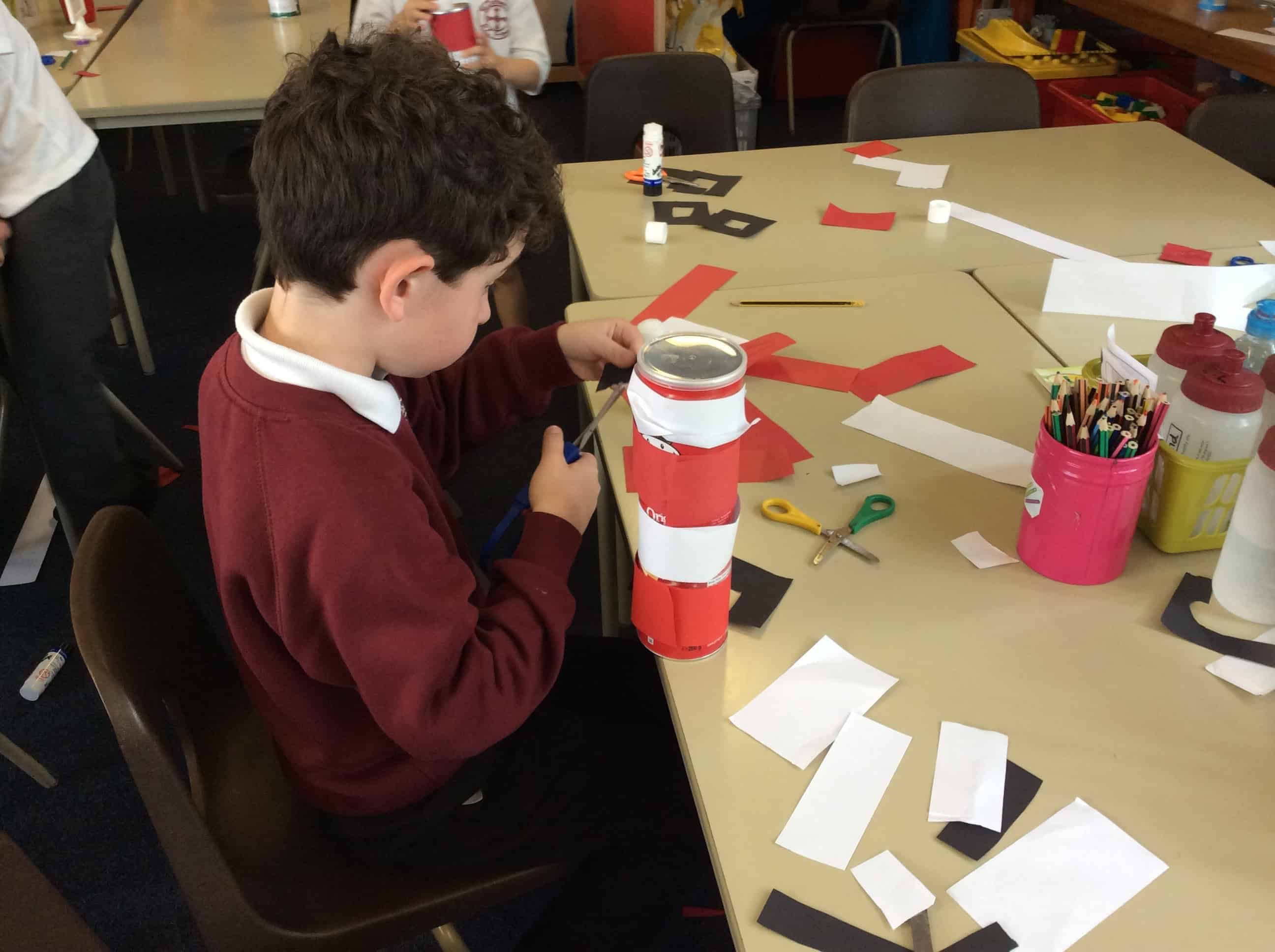 Year 1 Making Lighthouses St Cuthberts Primary School